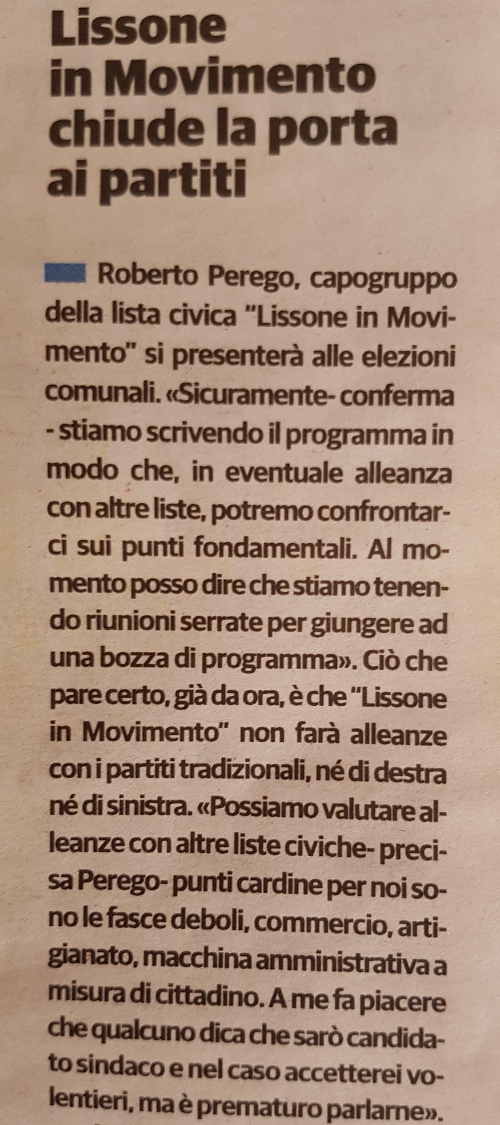 Lissone in Movimento – liste civiche per il riscatto di Lissone ...